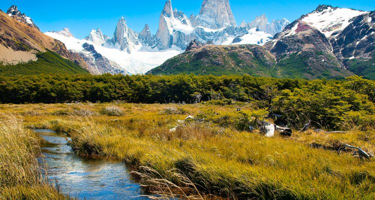 """""""Beautiful nature landscape with Mt Fitz Roy in Los Glaciares National Park, Patagonia, South America."""""""