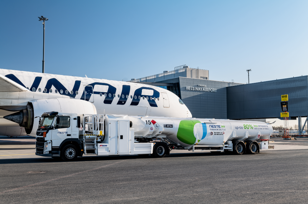 Finnair using sustainable aviation fuel