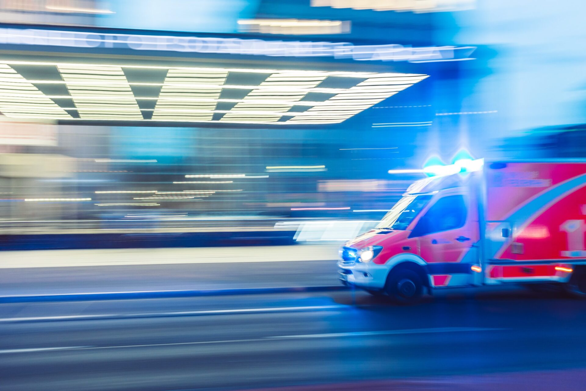 ambulance races critically ill patient